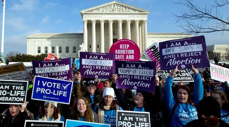 abortion laws, abortion laws in US, Roe versus Wade, Donald trump, March for life, pro-life activists, Feminists for Life, what was Roe versus Wade case, indian express, indian express explained