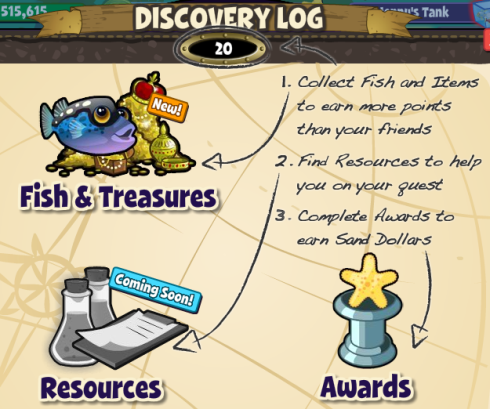 FishVille Discovery Log