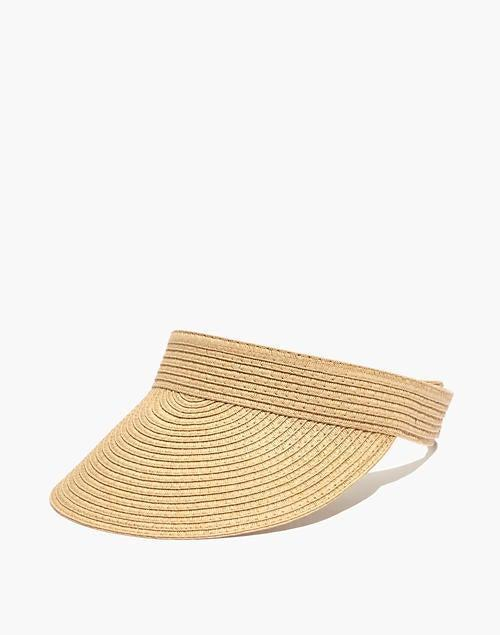 """<br><br><strong>Madewell</strong> Packable Straw Visor, $, available at <a href=""""https://go.skimresources.com/?id=30283X879131&url=https%3A%2F%2Fwww.madewell.com%2Fpackable-straw-visor-MD502.html"""" rel=""""nofollow noopener"""" target=""""_blank"""" data-ylk=""""slk:Madewell"""" class=""""link rapid-noclick-resp"""">Madewell</a>"""