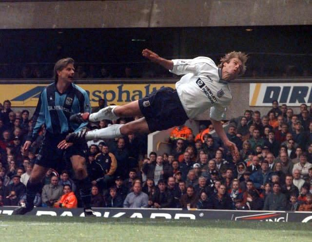 Jurgen Klinsmann was a hit in his two spells at Tottenham. (Sean Dempsey/PA)