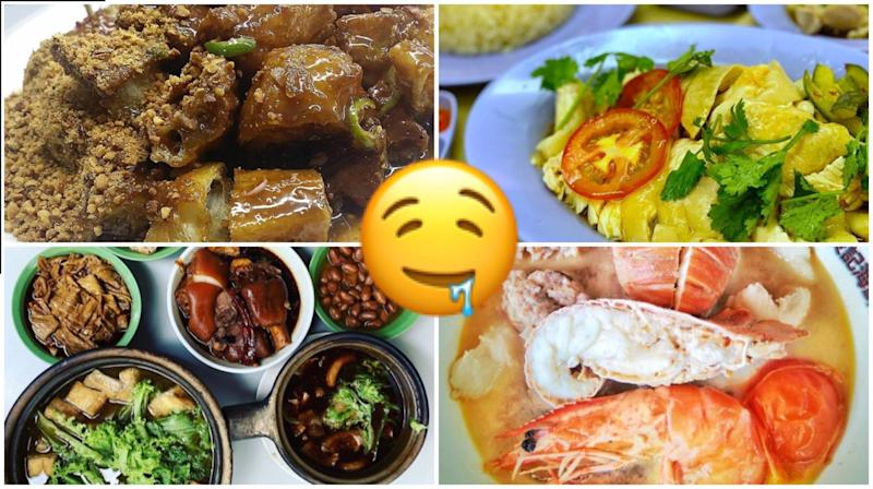 PHOTOS: INSTAGRAM/@HONGCHENGGGGG (ROJAK), @THESILVERCHEF (CHICKEN RICE), @DBNARCIS (BAK KUT TEH) AND @DARRENN9 (SEAFOOD SOUP)