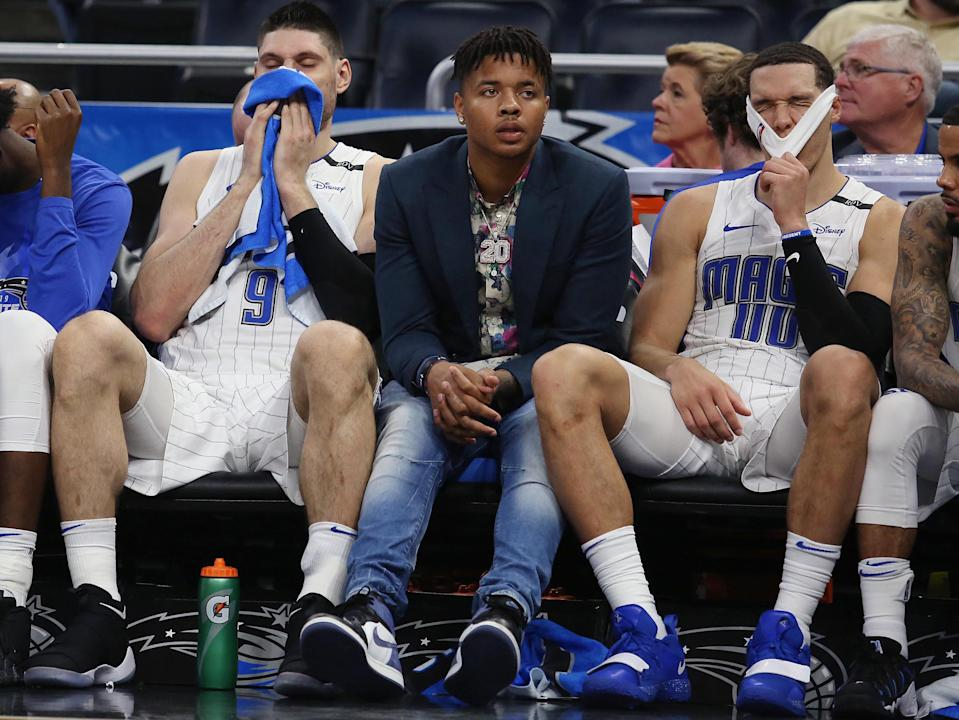When will Markelle Fultz return to the Magic? Even the Magic don't know. (Stephen M. Dowell/Orlando Sentinel/TNS via Getty Images)