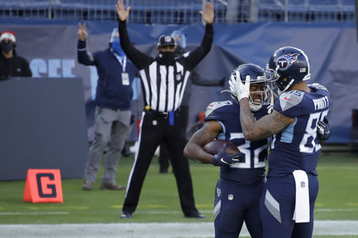 during the second half of an NFL football game Sunday, Dec. 20, 2020, in Nashville, N.C. (AP Photo/Ben Margot)