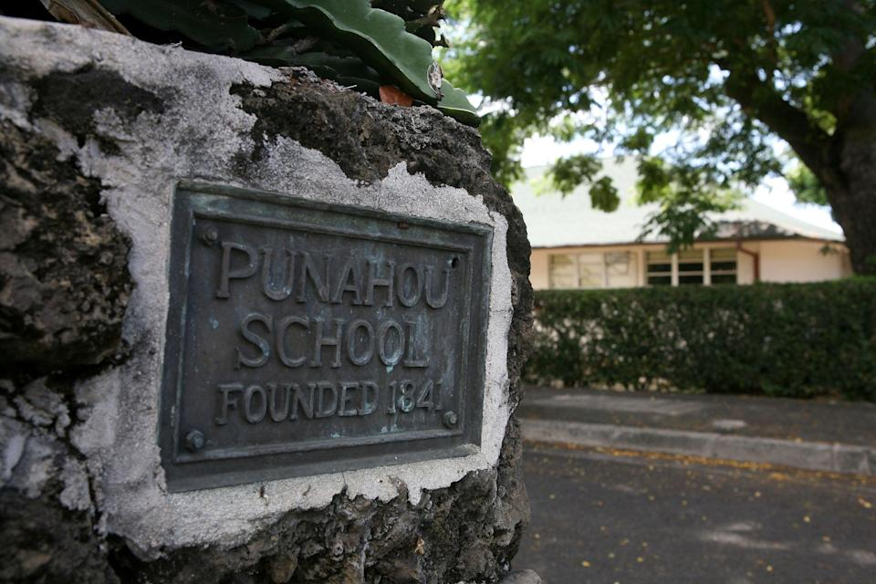 The Punahou School that presidential candidate Barack Obama attended as a teenager is shown October 22, 2008 in Honolulu, Hawaii. (Getty Images)