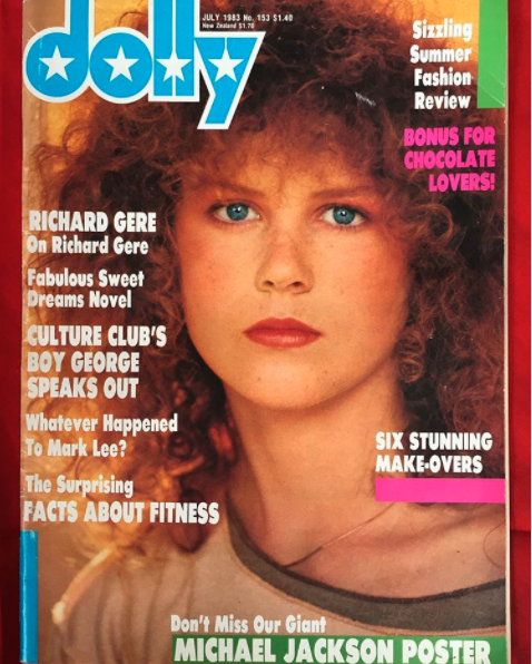 Nicole Kidman on the cover of Dolly Magazine