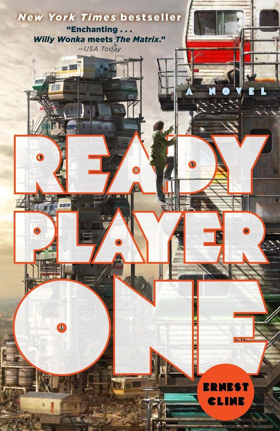 <p>He'll love reading <span><strong>Ready Player One</strong> by Ernest Cline</span> ($10, originally $17), and will hopefully share with you after he's done. </p>