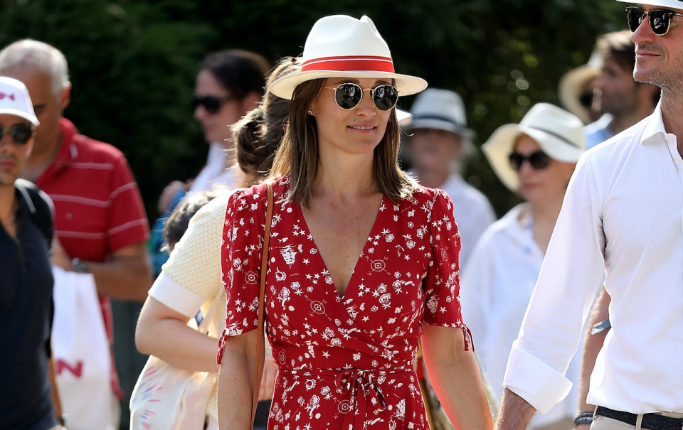 Pippa Middleton attended the French Open in Paris with husband James Matthews. [Photo: Getty]
