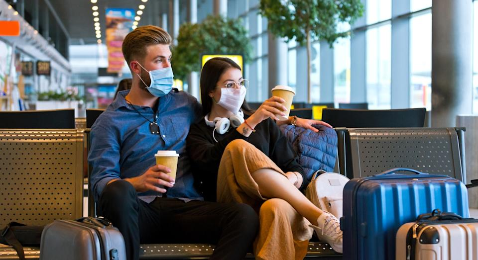BA recommends changing your face mask every four hours during a flight (Getty)
