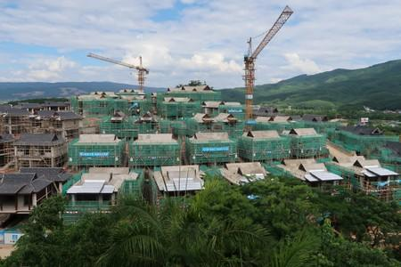 "Villas of real estate property ""Viva Villa"" developed by Ping An Real Estate are seen under construction in Xishuangbanna, Yunnan"