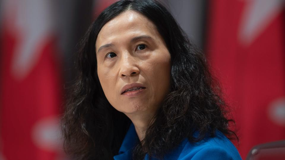Chief Public Health Officer Theresa Tam listens to a question during a news conference Tuesday May 19, 2020 in Ottawa. (THE CANADIAN PRESS/Adrian Wyld)
