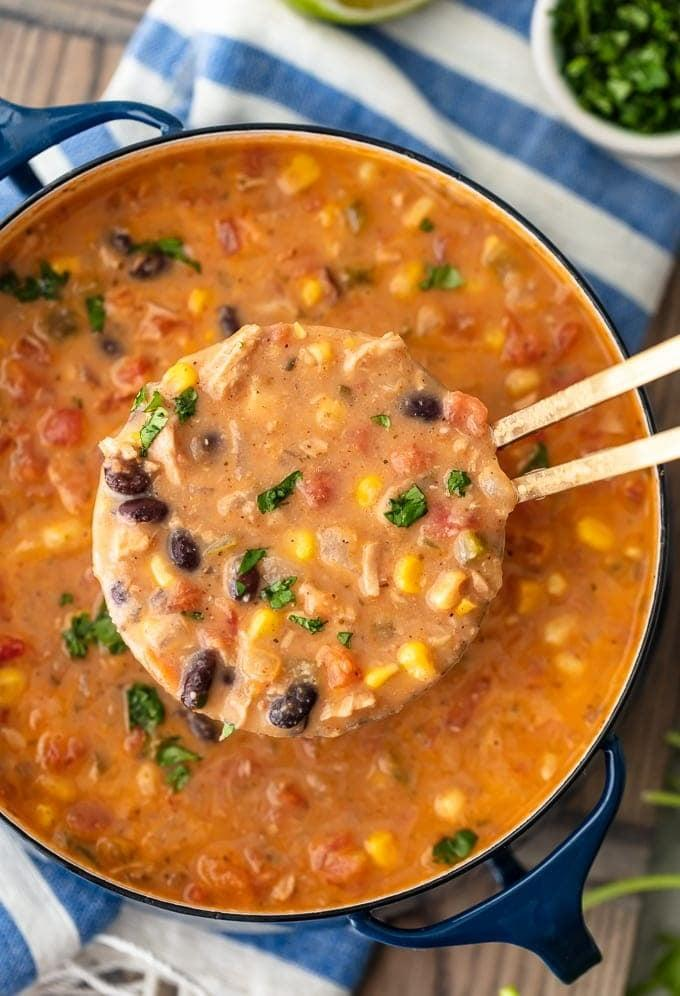 """<p>There's nothing quite like homemade tortilla soup, is there? This recipe is packed with all the best ingredients like chicken, beans, corn, and more. The best way to make this is by cooking up a big batch and freezing the rest for later.</p> <p><strong>Get the recipe:</strong> <a href=""""https://www.thecookierookie.com/creamy-chicken-tortilla-soup/"""" class=""""link rapid-noclick-resp"""" rel=""""nofollow noopener"""" target=""""_blank"""" data-ylk=""""slk:creamy chicken tortilla soup"""">creamy chicken tortilla soup</a></p>"""