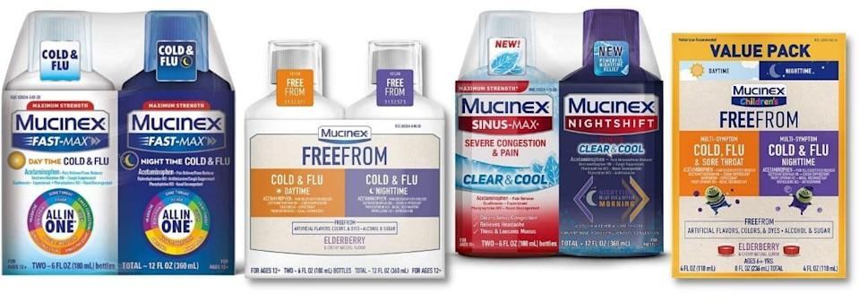 Day and Night Cold, Flu, Sinus Relief Amazon FSA and HSA Mucinex and Durex Slice