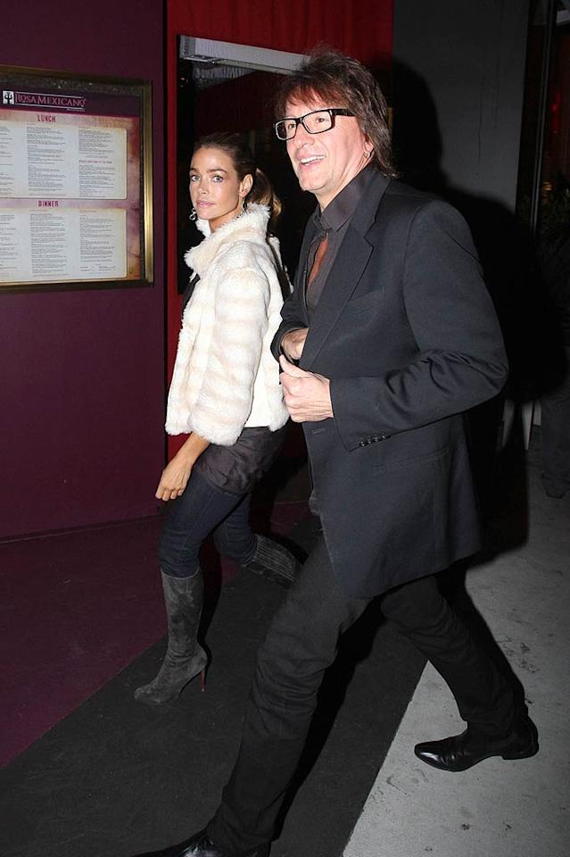 On again! Denise Richards and Richie Sambora -- who made headlines in 2006 when they started dating after splitting from their respective spouses, Charlie Sheen and Heather Locklear -- were back at it over the weekend when they hit  Rosa Mexicano in West Hollywood for a pal's birthday party. (11/5/2011)