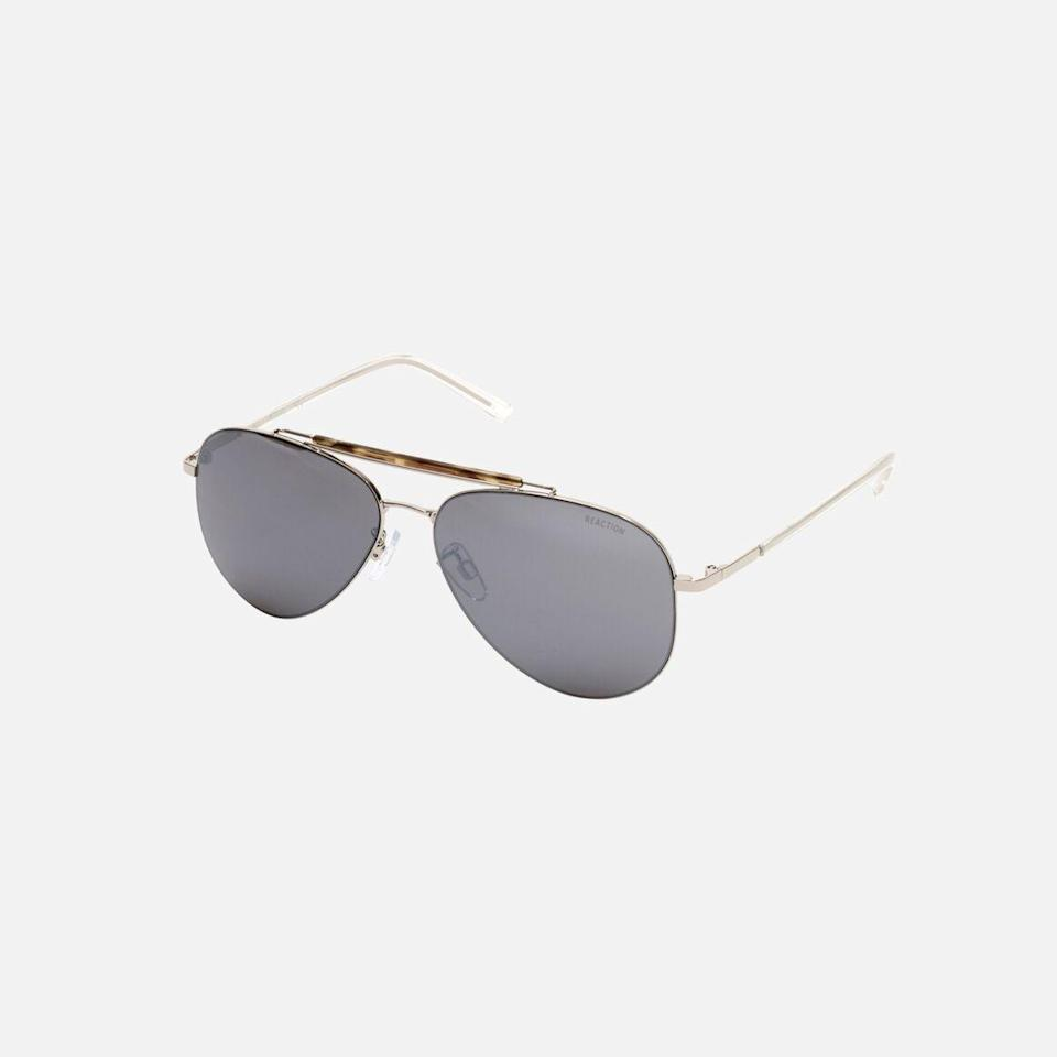 """<p><strong>Reaction Kenneth Cole</strong></p><p>kennethcole.com</p><p><strong>$95.00</strong></p><p><a href=""""https://go.redirectingat.com?id=74968X1596630&url=https%3A%2F%2Fwww.kennethcole.com%2Fmen%2Fbags-and-accessories%2Fsunglasses%2Fmens-metal-aviator-sunglasses-with-bridge-detail-KC2815.html&sref=https%3A%2F%2Fwww.seventeen.com%2Flife%2Fg23515577%2Fcool-gifts-for-teen-boys%2F"""" rel=""""nofollow noopener"""" target=""""_blank"""" data-ylk=""""slk:Shop Now"""" class=""""link rapid-noclick-resp"""">Shop Now</a></p><p>Proven fact: bae looks 10x hotter in a good pair of shades. </p>"""