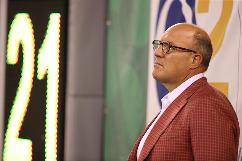 Scott Pioli is stepping down as Atlanta Falcons assistant general manager after five years with the team. (Getty Images)