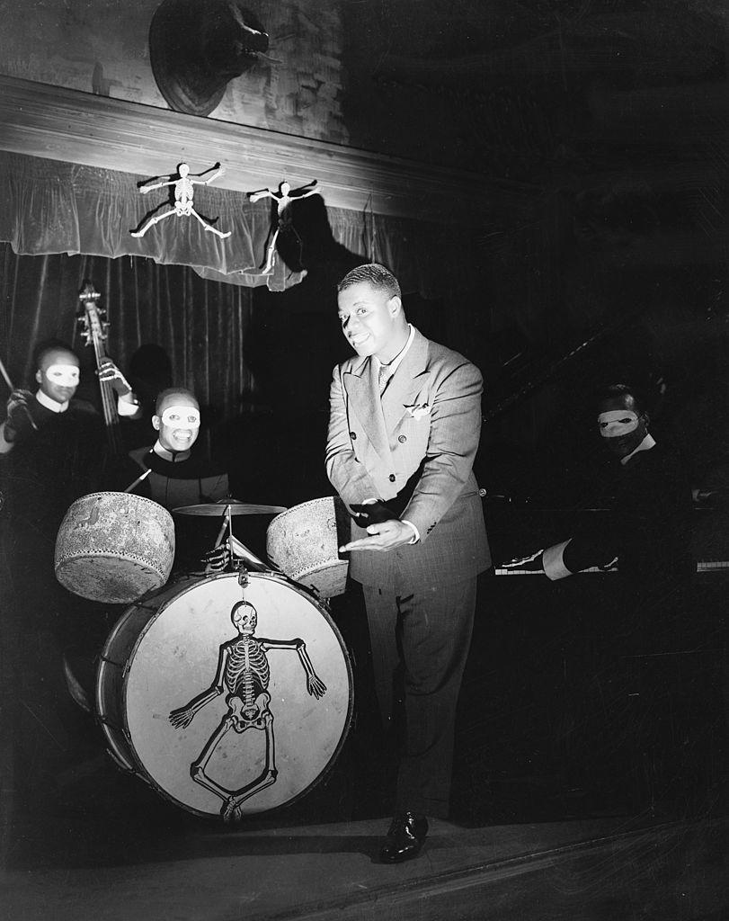 <p>Louis Armstrong led a Halloween-themed band in the 1936 film <em>Pennies from Heaven</em>.</p>