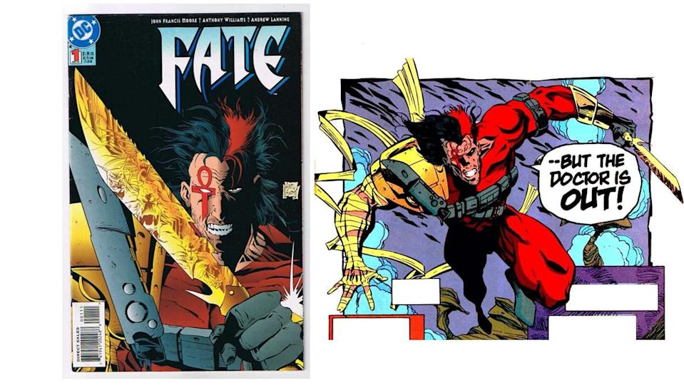"""The '90s """"extreme"""" era saw Fate drop the """"doctor"""" and become a supernatural vigilante."""