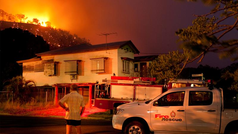 Blazes had been threatening homes and property near Mt Archer National Park