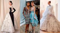 Looks from Balenciaga, Chanel, and Fendi's couture shows.