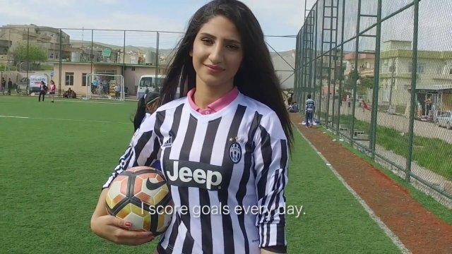 Mosul girls who fled Islamic State find confidence with football: 'It's not just for men'