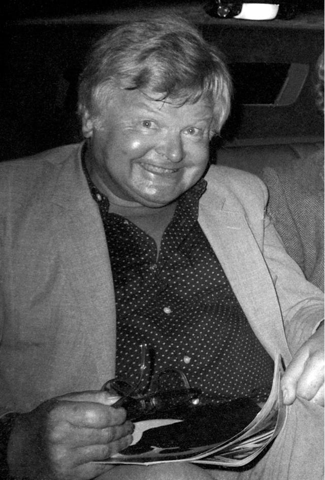 NEW YORK CITY, UNITED STATES - MAY 03: Benny Hill arrives for a musical in Manhattan on May 3, 1983 in New York city. (Photo by Tom Wargacki/WireImage)