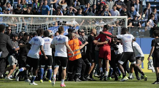 What a week for Lyon, whose Europa League quarterfinal first leg against Besiktas last Thursday was delayed by almost an hour after fan trouble spilled onto the pitch.