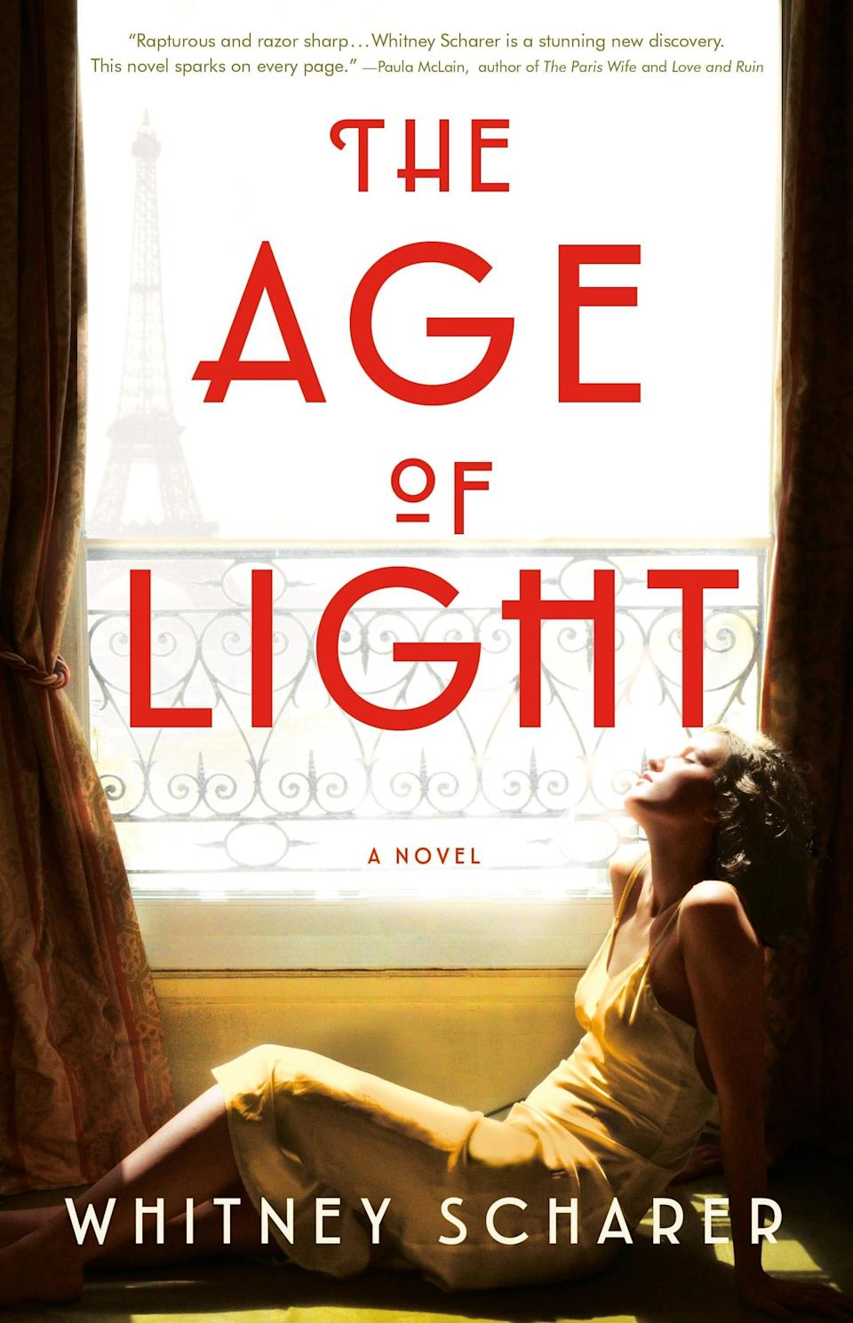 """Is """"woman behaves dangerously, lives wildly"""" a genre? If so, <em>The Age of Light</em> is its latest poster child. The novel is a work of historical fiction about Lee Miller, a real-life <em>Vogue</em> model who became one of the first female war correspondents. Scharer's plot takes off when Miller travels to Paris where she meets photographer Man Ray, who becomes her collaborator and lover. While most stories about Miller paint her as Ray's muse, this one portrays her as the independent and daring artist she truly was."""
