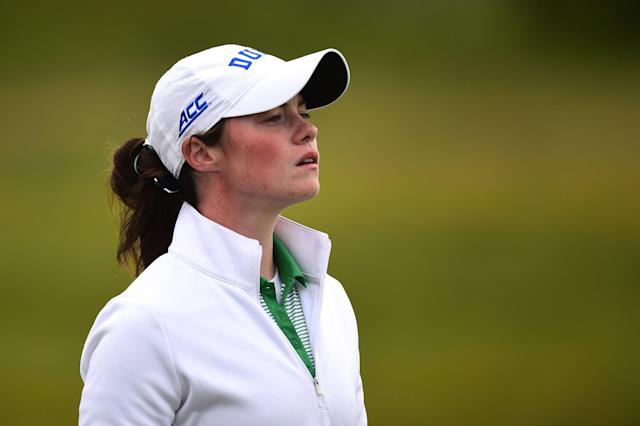 "<h1 class=""title"">leona-maguire-duke-2017-ladies-british-amateur.jpg</h1> <div class=""caption""> Maguire, a four-time first-team All-American at Duke, finished with one of the most decorated careers of any college golfer in NCAA history (and she graduated with a 3.943 GPA). </div> <cite class=""credit"">Richard Martin-Roberts/R&A</cite>"