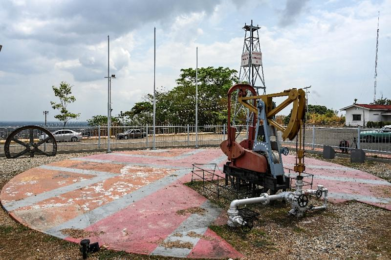 Once the heart of Venezuela's oil boom, Mene Grande is now a zone of desolate abandon (AFP Photo/Juan BARRETO)