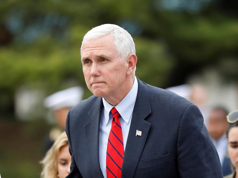 US Vice President Mike Pence visits the National Cemetery in Seoul: Reuters