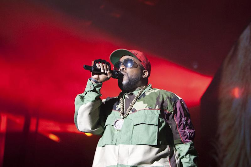 Big Boi of Outkast performs at Counterpoint 2014 Sunday, April 27, 2014, in Rome, Ga. (AP Photo/Branden Camp)