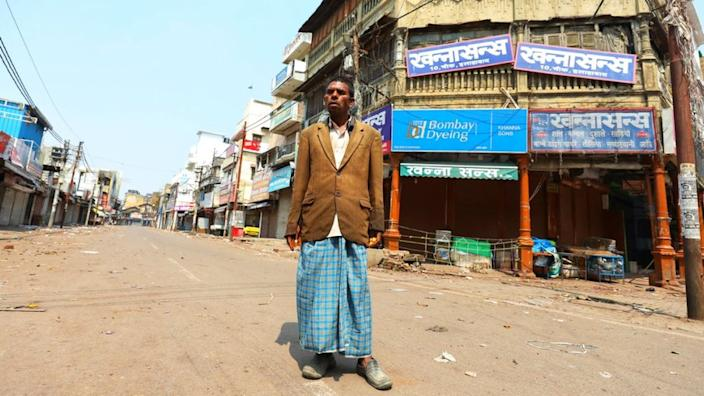 Kishan Lal - a rickshaw puller in the northern city of Allahabad - has earned no money in four days