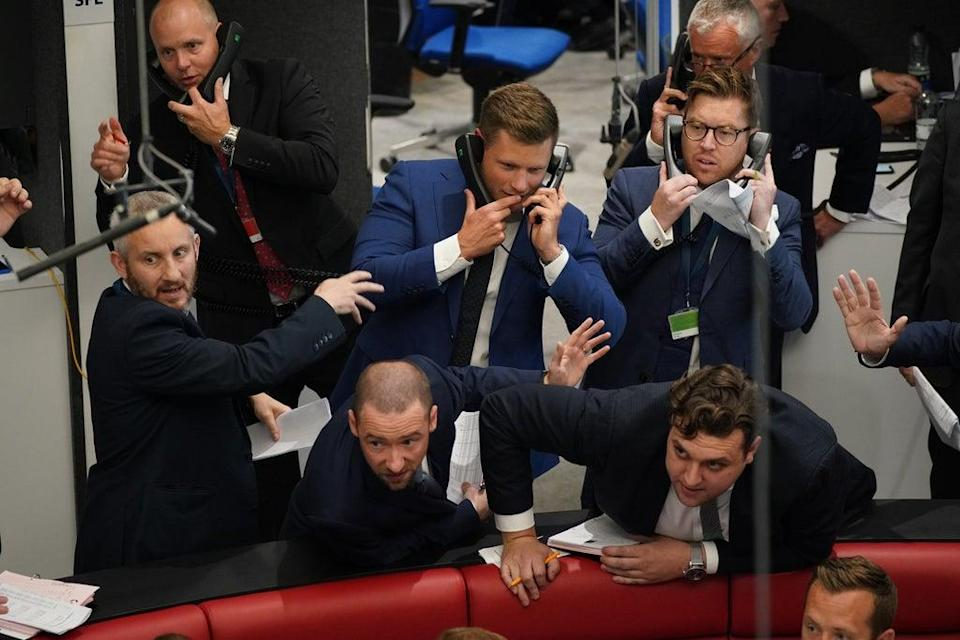 Traders in the Ring at the London Metal Exchange (Yui Mok/PA) (PA Wire)