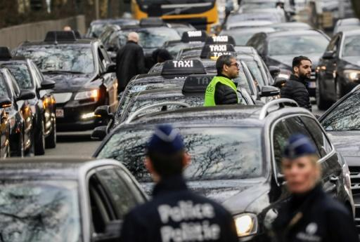 Taxi-Protest in Brüssel