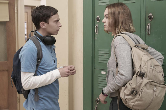 """Keir Gilchrist and Brigette Lundy Paine in Season 1 of 'Atypical'<span class=""""copyright"""">Greg Gayne/Netflix</span>"""