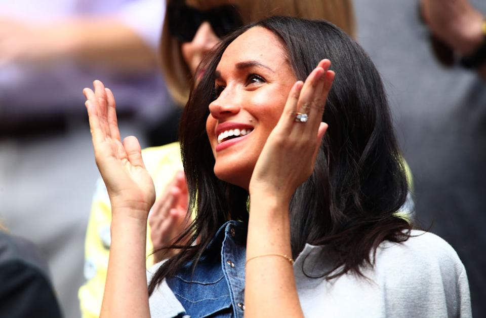 The royal mother was spotted wearing her engagement ring at the US Open [Photo: Getty]