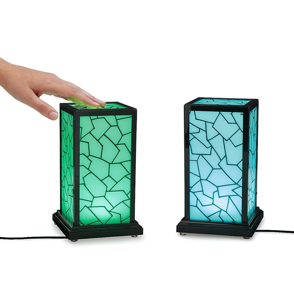 <p>If someone lives far away, this <span>Long Distance Touch Lamp</span> ($75) is such a touching present. You keep one at your home, your friend or family member keeps one at their home, and every time one of you touches it, the other one will light up too. It doesn't matter how far away they are from each other.</p>