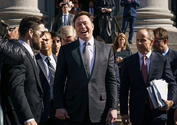 NEW YORK, NY - APRIL 4: Tesla CEO Elon Musk exits federal court, April 4, 2019 in New York City. A federal judge heard oral arguments this afternoon in a lawsuit brought by the U.S. Securities and Exchange Commission (SEC) that seeks to hold Musk in contempt for violating a settlement deal. (Photo by Drew Angerer/Getty Images