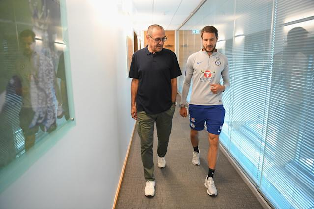 Sarri gets used to his new surroundings.