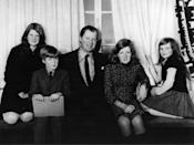 <p>Diana, her siblings, and her father pose for a photograph at home. The family moved to the Spencer estate after Diana's grandfather died, making her father the eighth Earl Spencer. </p>