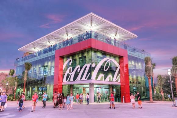 Outside view of a Coca-Cola store.