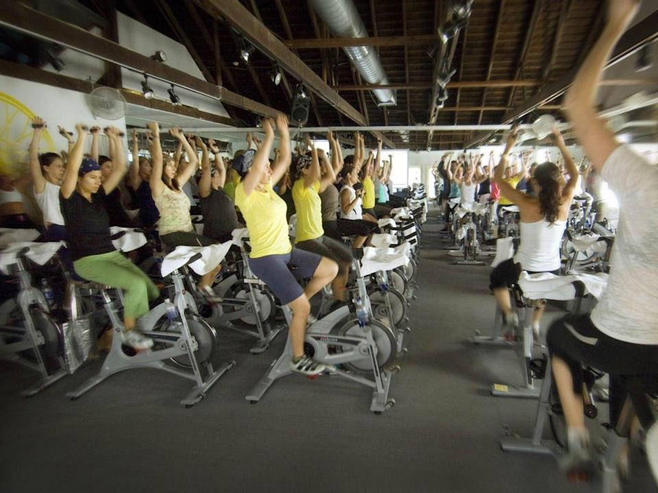 <p>A SoulCycle class in New York</p>