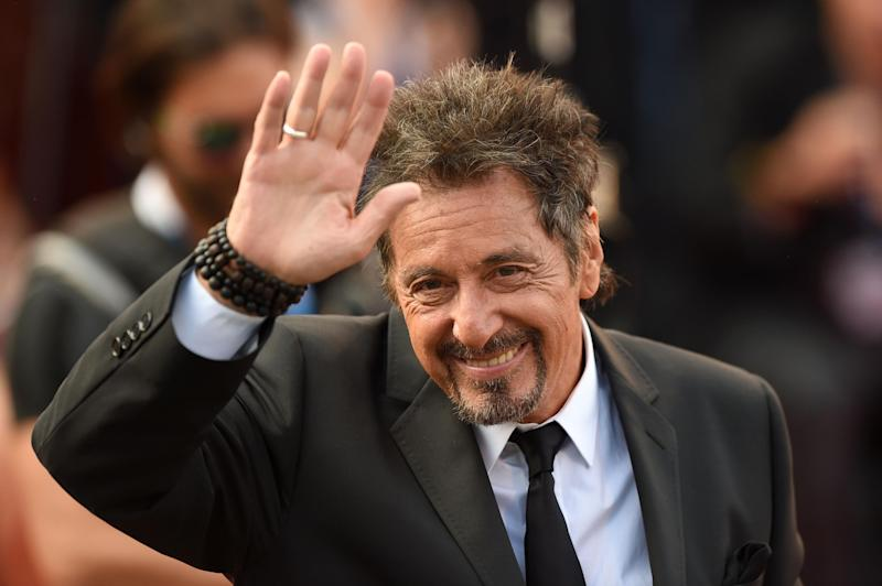 Al Pacino at Manglehorn premiere in Venice