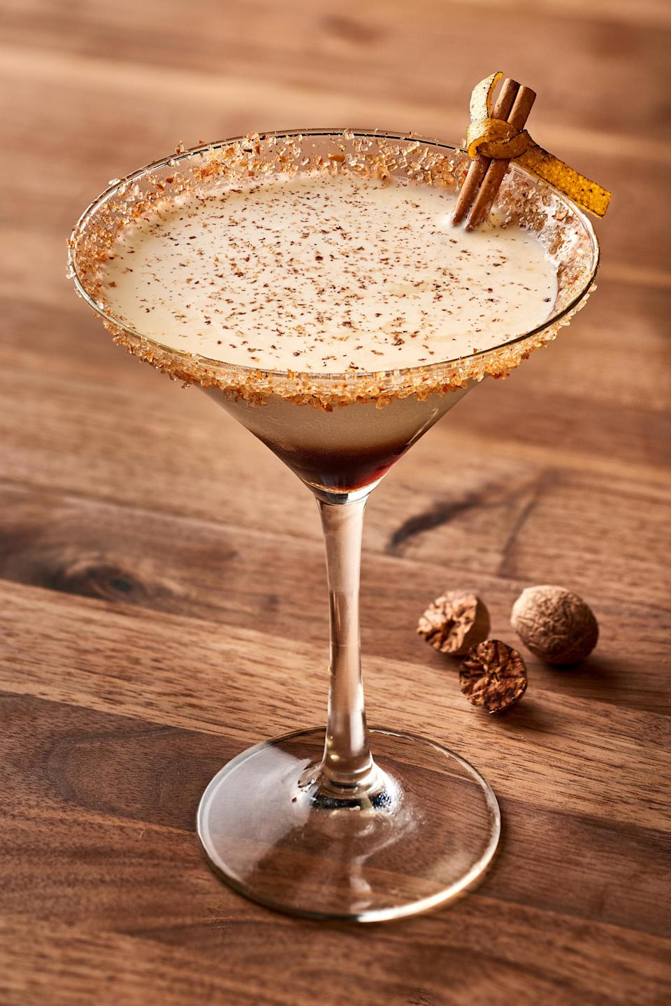 "<p>This cocktail will replace all other <a href=""https://www.thedailymeal.com/drink/coffee-types-explained?referrer=yahoo&category=beauty_food&include_utm=1&utm_medium=referral&utm_source=yahoo&utm_campaign=feed"" rel=""nofollow noopener"" target=""_blank"" data-ylk=""slk:coffee drinks"" class=""link rapid-noclick-resp"">coffee drinks</a>. The creamy seasonal White Russian recipe blends espresso liquor with pumpkin spice vodka, cinnamon simple syrup and milk. It's then topped with whipped cream and garnished with crushed graham crackers, making it the perfect dessert cocktail.</p> <p><a href=""https://www.thedailymeal.com/recipe/pumpkin-white-russian?referrer=yahoo&category=beauty_food&include_utm=1&utm_medium=referral&utm_source=yahoo&utm_campaign=feed"" rel=""nofollow noopener"" target=""_blank"" data-ylk=""slk:For the Pumpkin White Russian recipe, click here."" class=""link rapid-noclick-resp"">For the Pumpkin White Russian recipe, click here.</a></p>"