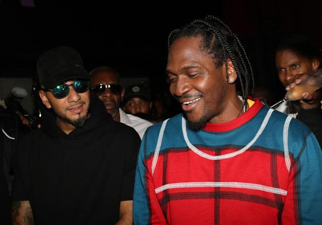 Pusha-T celebrates his new album at a NYC listening party on May 23, 2018. (Photo: Johnny Nunez/WireImage)