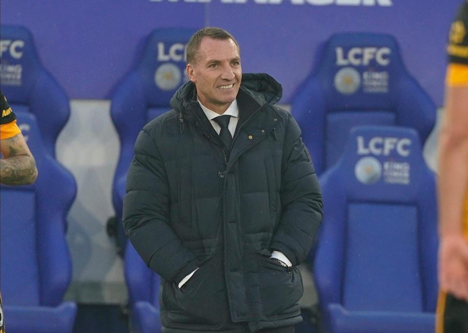 <p>Brendan Rodgers Leicester City manager</p> (AP)
