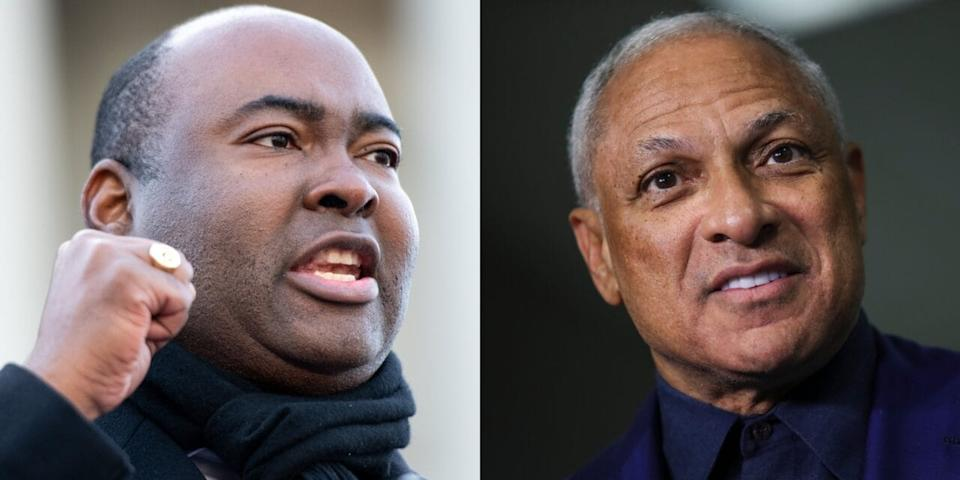 Left to right: South Carolina U.S. Senate candidate Jaime Harrison, and Mississippi U.S. Senate candidate Mike Espy. (Photo: Getty Images)