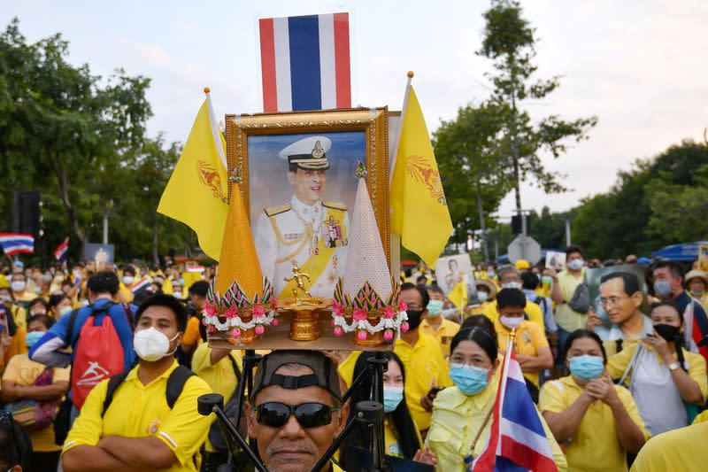 Gathering event to support the monarchy in Bangkok
