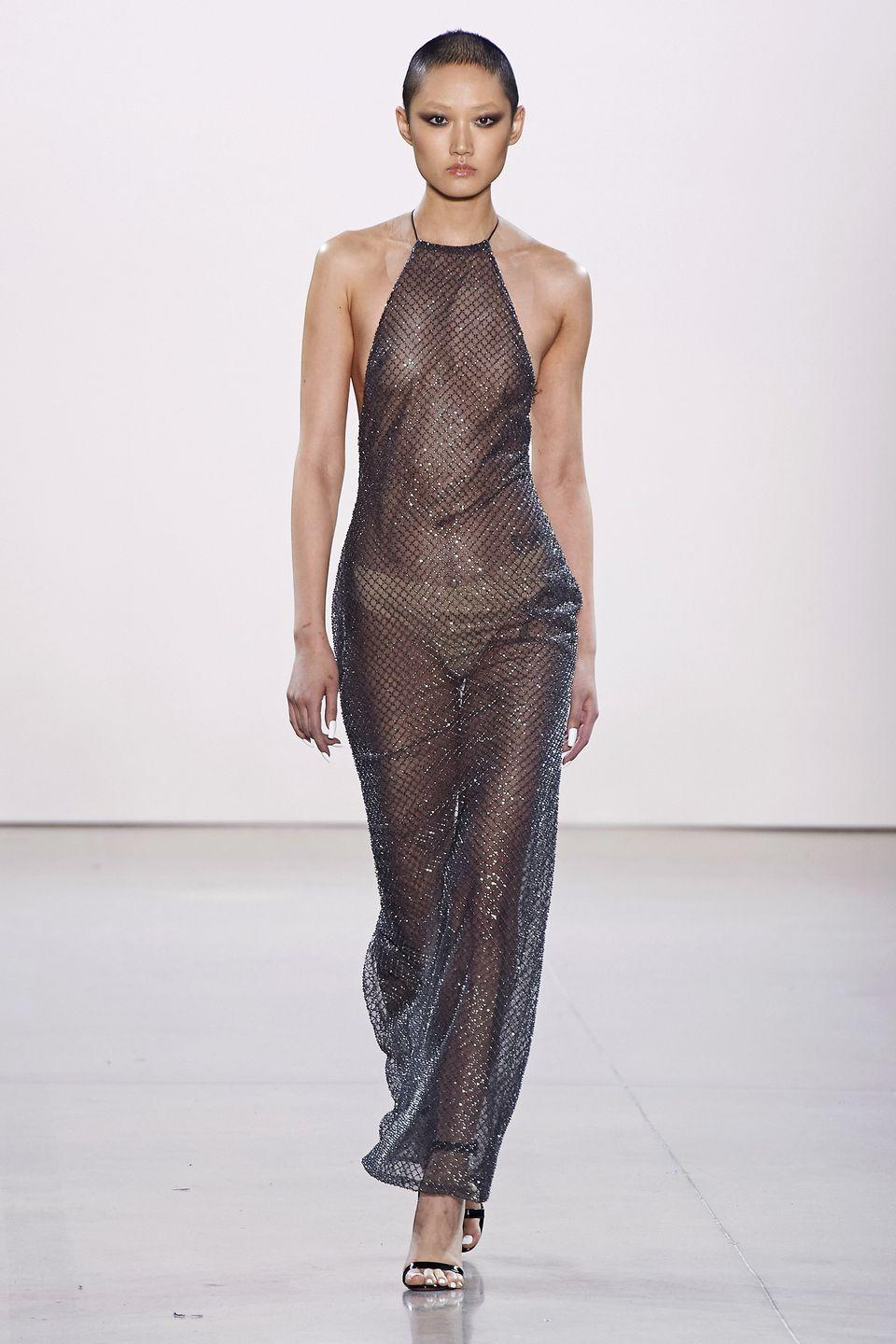 <p>It's sparkly, it's see-through, it's kinda armor-like.</p><p><em>Laquan Smith</em></p>