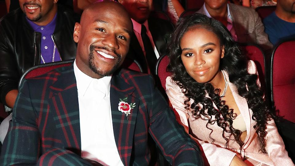 Floyd Mayweather and daughter Iyanna, pictured here in 2017.